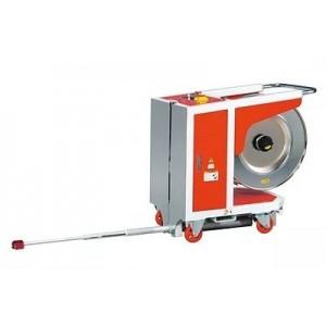 Polavtomatski stroj za povezovanje palet s trakom