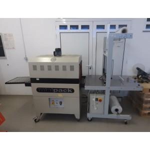 Stroj za pakiranje plastenk v termo folijo