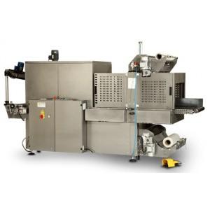"""GRAMEGNA MS 50 L, Polavtomatski stroj za pakiranje izdelkov po sistemu """"bundle"""" z motoriziranim vstopnim trakom"""