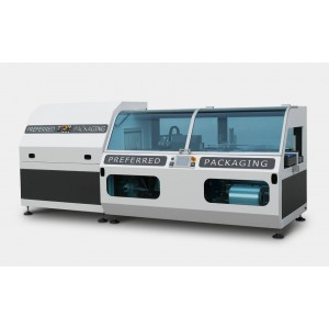 DM PACK - DEA, Pakirni stroj za pakiranje v termo folijo (polrokav) z neskončnim vzdolžnim varjenjem